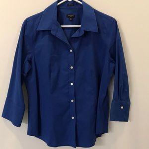 Talbots blue button down Size 12p